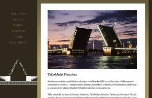 Taidelehdet Pietarissa -nettisivusto
